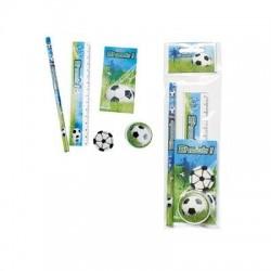 Set papelería fútbol 5 piezas