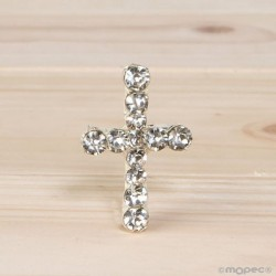 Broche cruz strass
