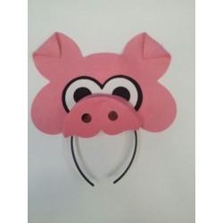 Diadema animalito cerdo