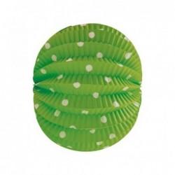 Farolillo verde lunares blanco