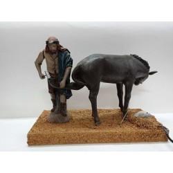 Herrero con burro