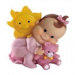 Bebé osito solete rosa