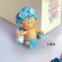 Bebé niño pañal celeste