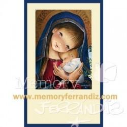 Estampa comunión  Virgen...